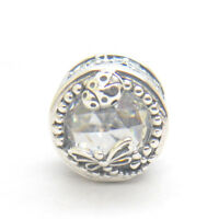 New Authentic 925 Sterling Silver Enchanted Nature Clear CZ Bead Charm