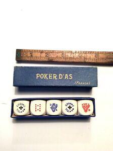 Boxed Set Vintage Poker Dice