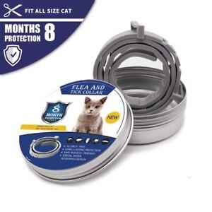 Adjustable Anti Flea Tick Pet Collar For Cat Kitten Cats 8 Months Protection UK