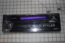 "ION  1"" Titanium Multi Styler Curl or Straighten 1 inch PURPLE 450F 301199 NEW"