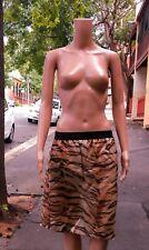 ZIMMERMANN ~ 8-10 ~ Chic 100% Silk Tiger Animal Print Elastic Waist Skirt ~ $695