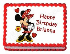 MINNIE MOUSE party edible cake topper cake image frosting sheet
