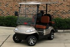 New 2020 Champagne / Saddle Advanced EV 48V Electric Golf Cart 4 Passenger