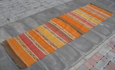 Anatolian Nomadic Hand Made Soumak Turkish Kilim Runner - 2'2.8''x 7'11.3''