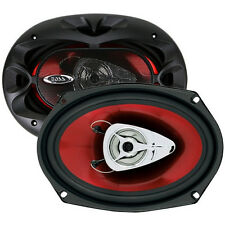 "NEW (2) 6x9"" Car Speakers.Crisp Tweeters.Six by Nine Inch.Pair.Sound.6x9.4 ohm"