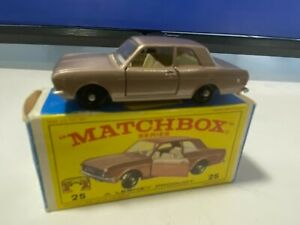 VINTAGE MATCHBOX LESNEY #25 FORD CORTINA BROWN NEVER PLAY WITH