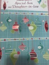 Unused Christmas Card American Greetings W/Envelope Glitter Daughter Son In Law