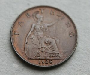 GB Farthing – 1928 – A Uncirculated Condition – Super Clean Coin (Je1)
