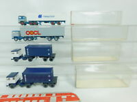 BO665-0,5# 4x Wiking H0/1:87 LKW Scania: 526 ICL+520 OOCL/Hapag, sehr gut+OVP