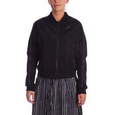 Women's Nike Bonded Bomber Jacket Coat Size Large 804029-010 Black