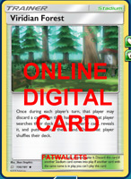4X Viridian Forest 156/181 Team Up Pokemon TCG Online Digital Card