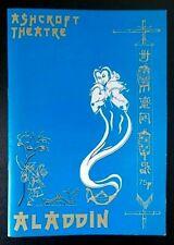 Aladdin programme Ashcroft Theatre 1988 Lorraine Chase Jeffrey Holland