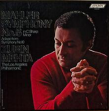 MAHLER: Symphony No. 5-NM1977 2LP BOX MEHTA/LA PHIL UNUSUAL LABEL w/ NOTES