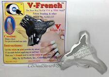 V French Acrylic Gel Nails Pink & White Cutter Tool V TRIPLE TIP NEW !!