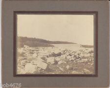 PAIR 1901-12 Austin Texas Tom Miller Dam Burst Albumen Prints Never Pub'd Texana