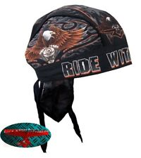 RIDE WITH PRIDE Bandana Kopftuch Headwrap Biker Chopper Cap V2 Harley 1% EAGLE