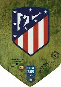 PANINI ADRENALYN FIFA 365 2019 N.28 ATLETICO MADRID CLUB BADGE