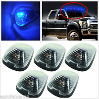5 Pcs Blue LED Car Van SUV Cab Marker Clearance Lights Roof Running Lamps Signal