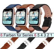 Echt Leder Armband für Apple Watch Series SE 6 5 4 3 2 1 38 bis 44 mm DE