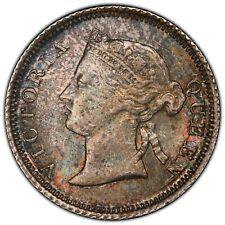 1868 Hong Kong 5 Cents - PCGS MS63 - Colorful Toning