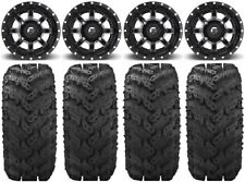 "Fuel Maverick Black 14"" Wheels 30"" Reptile Tires Kawasaki Mule Pro Fxt"