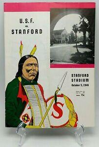 1946 Stanford vs University of San Francisco USF Dons Football Program October 5