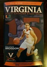 2016-17 Virginia Basketball Malcolm Brogdon Jersey Retirement Game Program 2/20