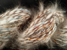 CRAZY Handspun French Angora Yarn & Rayon Boucle 115 yds 1.96 oz Furry SOFT