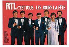 Publicité Advertising 1984 (2 pages) Radio RTL c'est tous les jours la Fete