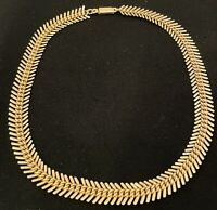Gold Tone Flat Knotted Chain Costume Jewellery 17 Inch