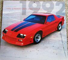 1992 Chevrolet Camaro ht car print (red & black)
