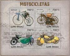 Motorcycles Motorräder Motos Transport Guinea-Bissau MNH stamp sheet