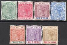 Gibraltar Qv 1898 Reedición En Inglés moneda Set M/m 2 Scans