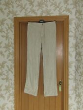 """Raygun cream beige knitted suedette trousers retro M 32x34.5"""" tall unisex bnwt"""