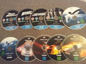 Fast and The Furious 1, 2, 3, 4, 5,  - Blu-Ray + 5 Digital Copy