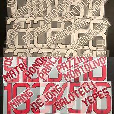 SET NOME+NUMERO UFFICIALE AC MILAN HOME/AWAY 2012-2014 NAMESETS