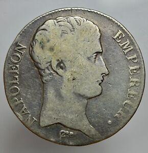 FRANCIA - NAPOLEONE 1804-1814 -AG/ 5 FRANCS AN 13 LIMOGES