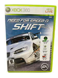 Need for Speed: Shift (Microsoft Xbox 360, 2009) Complete W/ Manual Free Ship
