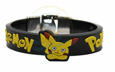 Pokemon Pikachu 24 mm DEBOSSED SILICONE WRISTBAND BRACELET CHROME LOCK