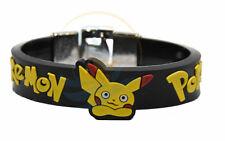 Pokemon Pikachu 24 mm DEBOSSED SILICONE WRISTBAND BRACELET CHROME LOCK