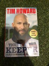 Tim Howard signed book USA soccer keeper COA