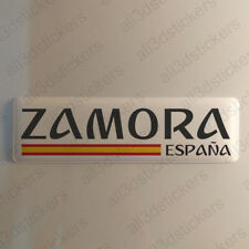 "Zamora Spain Sticker 4.70x1.18"" Domed Resin 3D Flag Stickers Decal Vinyl"