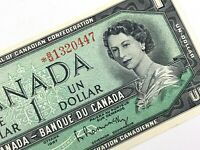 1967 Canada 1 One Dollar Replacement BM Prefix Uncirculated Banknote M467