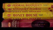 Cleaning Powers Money House Floral Bouquet 60 Hem Incense Stick 3 Scent Gift Set
