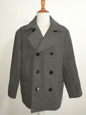 Lands' End Wool Peacoat Double Breasted Coat Heavy Jacket Men's XL