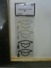 New listing Hobby Lobby Graduation Caps Clear Black Stickers Embellishments New A24721