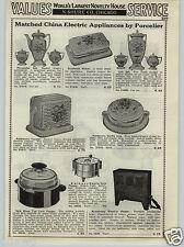 1937 PAPER AD PORCELIER Toaster Tea Coffee Set Sandwich Maker Urn Waffle Iron