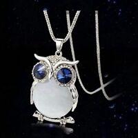 Women's Owl Rhinestone Crystal Pendant Necklace Long Sweater Chain Jewelry new