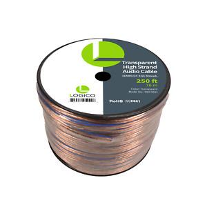 Car Home Audio Speaker Wire 16 Gauge Bulk Audio Speaker Cable Transparent 250 ft