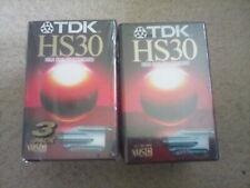6 x TDK HS30 Vhs C Camcorder Cassette Tapes New/Sealed